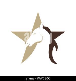 horse head Logo Template Vector illustration design - Stock Photo