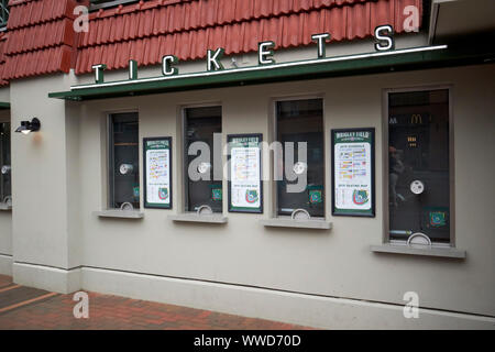 ticket window at wrigley field Chicago Illinois USA - Stock Photo