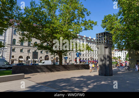 Memorial for the Victims of Nazi Victims, Platz der Opfer des Nationalsozialismus, Munich, Bavaria, Germany. - Stock Photo
