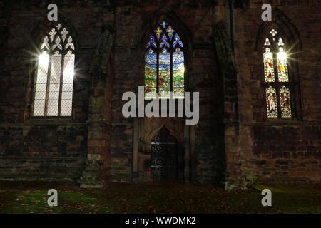 Bourne stained glass window, St Mary's Church, Nantwich - Stock Photo