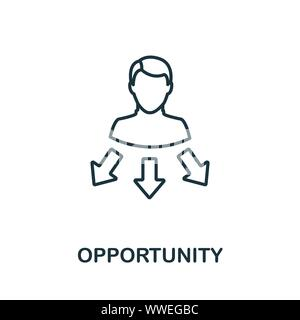 Opportunity outline icon. Thin line concept element from crm icons collection. Creative Opportunity icon for mobile apps and web usage - Stock Photo