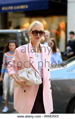 Leonie Hanne at London fashion week SS20 - Stock Photo