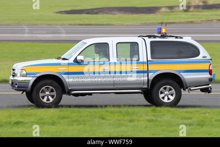 WG55 HYS, a Ford Ranger operated by the Prestwick Airport Fire Service department. - Stock Photo