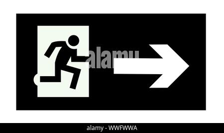 exit emergency sign - Stock Photo