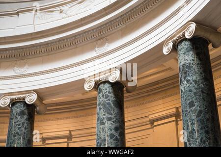Washington DC, USA - June 6th 2019: Columns inside National Gallery of Art