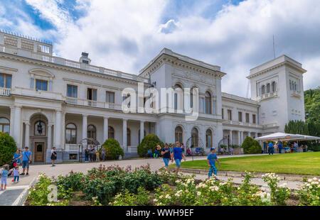 Livadia, Crimea - July 10. 2019. Monument to Tsar Alexander III, Sculptor Andrey Kovalchuk - Stock Photo