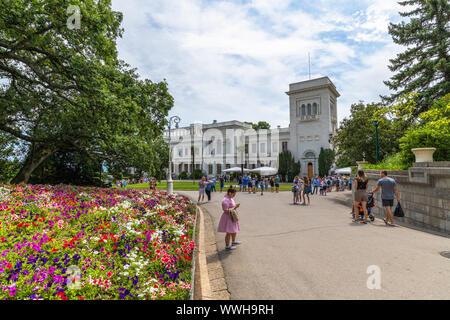 Livadia, Crimea - July 10. 2019. Monument to Tsar Alexander III, Sculptor Andrey Kovalchuk - Stock Photo