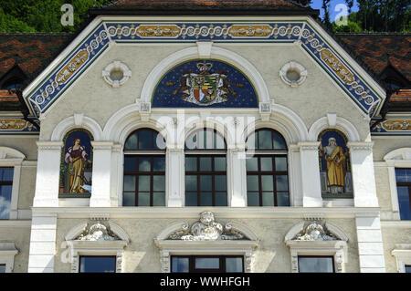 Seat of government, Vaduz, Liechtenstein - Stock Photo