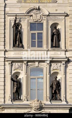 Facade of the Parliament Building, Quebec - Stock Photo