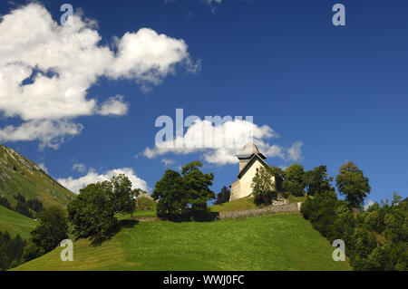Reformed Church Saint-Donat, Chateau-d'Oex - Stock Photo