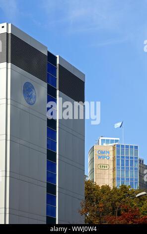 Seat of the International Patent Office, Geneva, Switzerland - Stock Photo