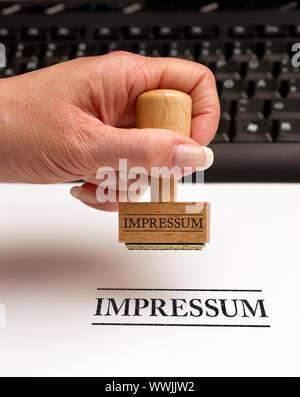 Imprint - Business Concept - Stock Photo