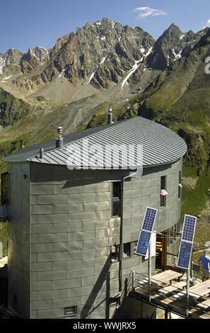Cabane du Velan in the Pennine Alps, Switzerland - Stock Photo