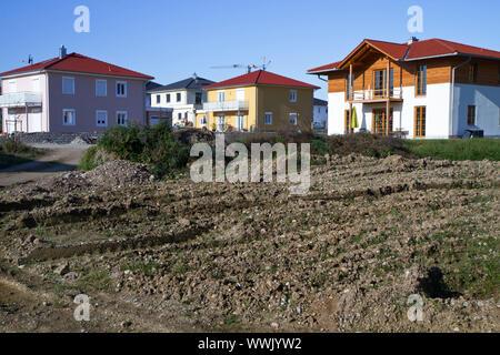New development area in rural Bavaria - Stock Photo