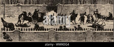 The Assassination of Alexander II on 13 March 1881, 1881. Private Collection. - Stock Photo