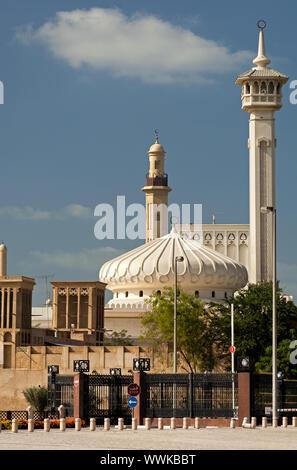 Modern Mosque in Bastakiya Quarter - Stock Photo