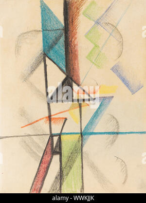 Abstract forms V, 1913. Private Collection. - Stock Photo