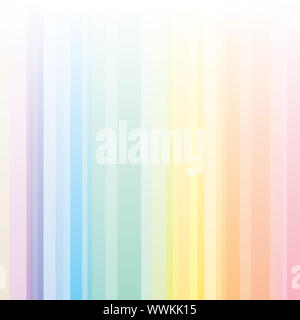 Seamless harmony stripes pattern with rainbow colors, ideal for a background. - Stock Photo