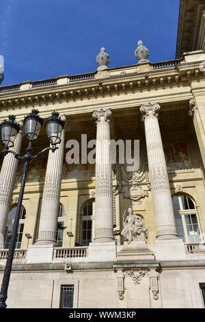 Grand Palais with blue sky. Paris, France. - Stock Photo