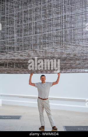 London, UK. 16th Sep, 2019. Matrix, 2019 - British sculptor Antony Gormley's (pictured) new exhibition at the Royal Academy of Arts. It is his most significant solo show in the UK for over a decade, bringing together both existing and especially conceived news works, from drawings and sculptures to experiential environments. It will run at the RA from 21 September to 3 December 2019. Credit: Guy Bell/Alamy Live News Stock Photo