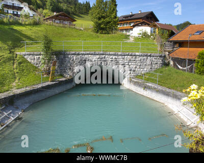 The Isar water channel - Stock Photo