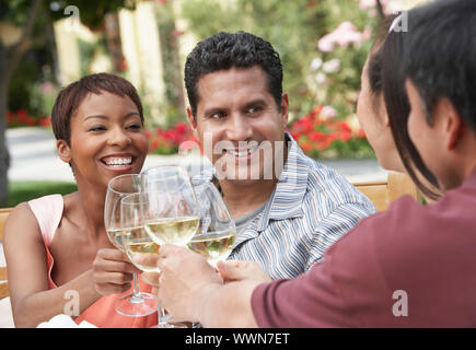 People at Garden Party - Stock Photo