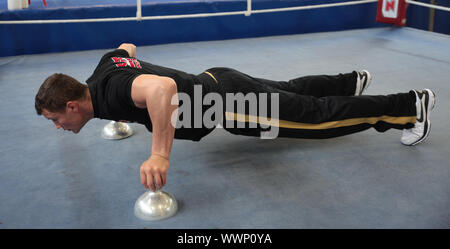 Ex-WBO Boxweltmeister Robert Stieglitz (SES-Boxing) beim SES-Media Day 10.6.15 in Magdeburg - Stock Photo