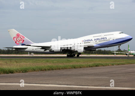 China Airlines Boeing 747-400 aircraft Taipei Taoyuan Airport