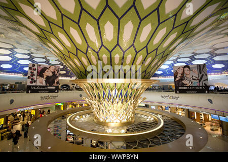 Terminal Abu Dhabi Airport - Stock Photo