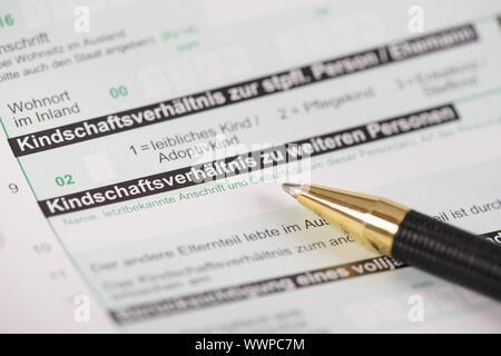 Tax return for tax office - Stock Photo