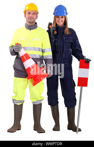 Civil construction workers - Stock Photo