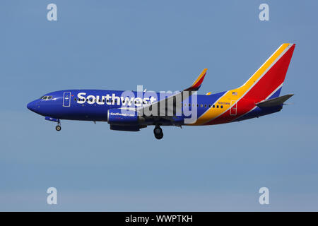 Southwest Airlines Boeing 737-700 Flugzeug - Stock Photo