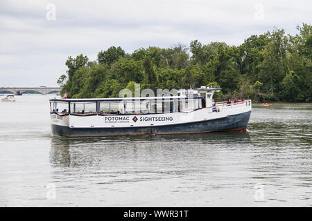 Washington DC, USA - June 7th 2019: Potomac river sightseeing boat - Stock Photo