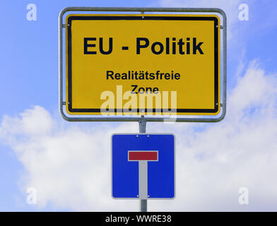 European policy in Brussels as a reality-free zone - Stock Photo