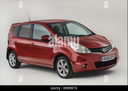 2009 Nissan Note. - Stock Photo