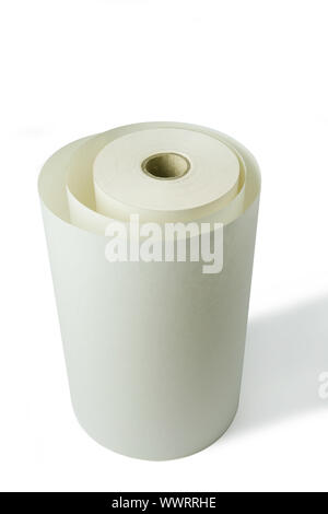 Roll of disposable paper - Stock Photo
