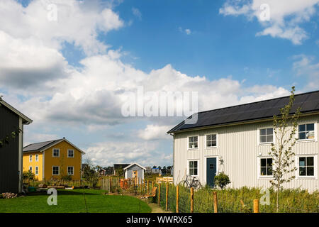 A eco friendly housing project, called Bolderburen in Oosterwold, a district in Almere, Flevoland, Netherlands. The owners did choose for Scandinavian
