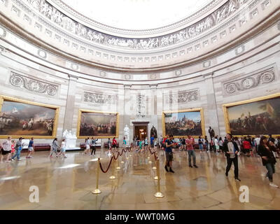Washington DC, USA - June 8th 2019: US Capitol Rotunda - Stock Photo