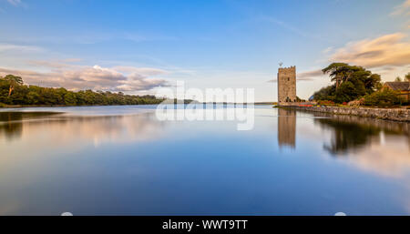 Belvelly Castle in County Cork, Ireland at Sunset - Stock Photo