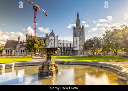 Impression of the St. Patricks Cathedral in Dublin, Ireland - Stock Photo