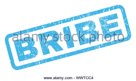 Bribe Rubber Stamp - Stock Photo
