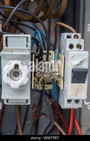 Electrical system Clamping connection - Stock Photo
