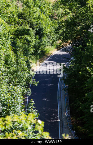 Country road in the Harz Mountains - Stock Photo