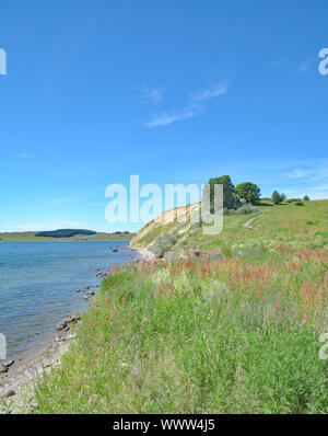 Steep coast of Klein Zicker,Moenchgut,Insel Ruegen,Baltic Sea,MVP,Germany - Stock Photo