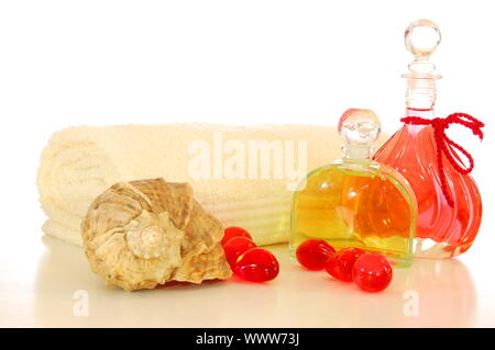 bodycare still life showing harmony balance wellness or zen - Stock Photo