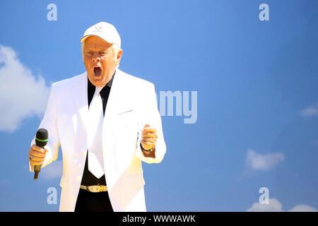 Singer at German Schlager Music Show Immer wieder Sonntags, 2015 - Stock Photo