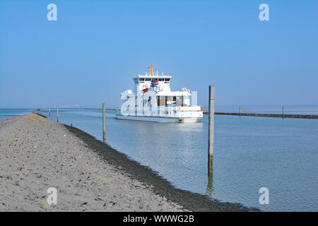 Ferry to Norderney from Norddeich,North Sea,East Frisia,lower Saxony,Germany - Stock Photo