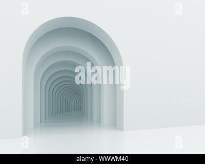 3d Illustration of Architectural Background with Arches