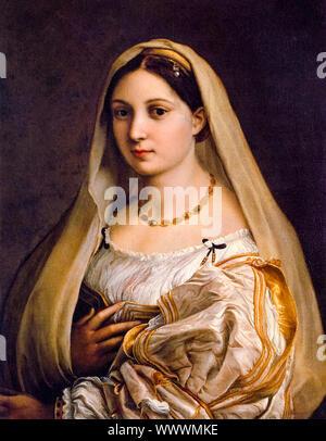 Raphael, Woman with a veil, (La Donna Velata), portrait painting, 1516-1520 - Stock Photo
