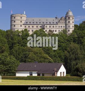 Wewelsburg castle and residential building , Bueren, North Rhine-Westphalia, Germany, Europe - Stock Photo